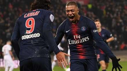 Kylian Mbappé y Edinson Cavani marcaron este hito en la victoria del PSG ante Guingamp