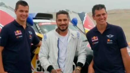 Paolo Guerrero se dejó seducir por el Rally Dakar y fue copiloto del equipo Mini