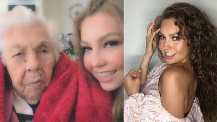La abuela de Thalía cumplió 101 años y la cantante le dedicó una tierna canción [VIDEO]