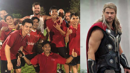Chris Hemsworth y su fallido intento de jugar fútbol en Tailandia [VIDEO]