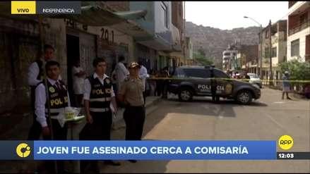 Joven fue asesinado a balazos cerca a comisaría en Independencia