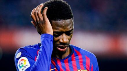 Ousmane Dembelé sufrió un esguince en el tobillo izquierdo