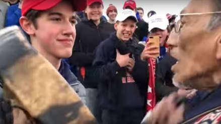 Adolescentes simpatizantes de Donald Trump se burlan de anciano nativo americano y piden muro para él