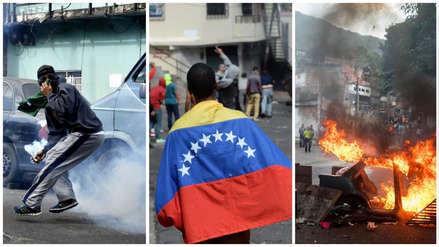 Represión en Venezuela   Vecinos respaldaron a militares sublevados y se enfrentaron con la Policía [FOTOS]