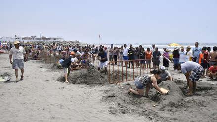 Así se vivió el concurso de esculturas de arena en playa de Trujillo