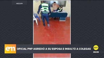 Policía detenido por agredir a su pareja insultó y amenazó a sus colegas en comisaría [VIDEO]