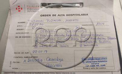 Alberto Fujimori | Esta es la orden de alta médica de la clínica [EXCLUSIVO]