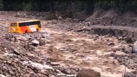 Fuertes lluvias generaron huaico que interrumpió la vía Cusco - Quillabamba