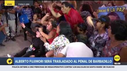 Manifestantes bloquearon salida de clínica para impedir que Alberto Fujimori sea trasladado a prisión