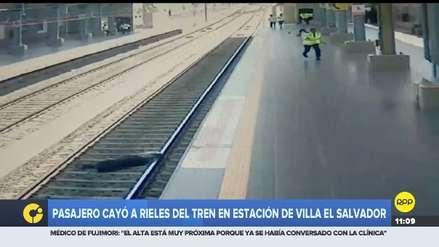 Un hombre se desmayó y cayó sobre los rieles del Metro de Lima