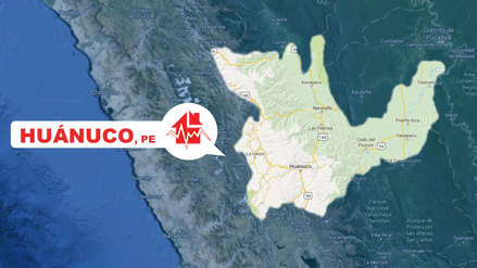 Un sismo de magnitud 5.3 sacudió Huánuco esta mañana