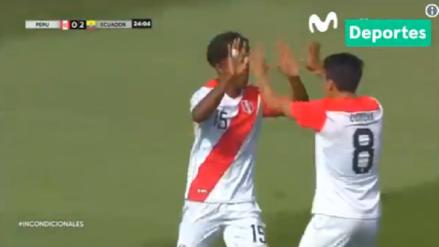Perú vs. Ecuador | Oslimg Mora anotó el primer tanto para el equipo bicolor [VIDEO]