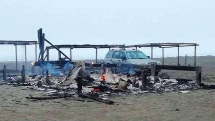 Bomberos hallaron cuerpo calcinado dentro de vivienda en playa de Asia