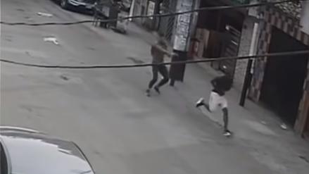Policía abatió a delincuente que asaltó a una mujer en San Juan de Miraflores [Video]