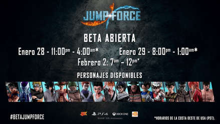 Jump Force | Se anuncia nuevo periodo de BETA para Latinoamérica