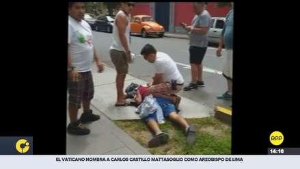 Magdalena: vecinos atraparon a ladrón que robaba placas y otras autopartes [VIDEO]