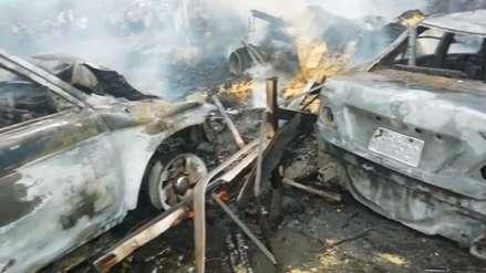 Así quedaron los vehículos tras el cuádruple choque en la Carretera Central [Video]