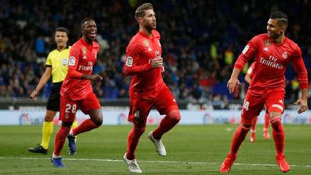 Real Madrid venció a Espanyol y sigue luchando por alcanzar al Barcelona