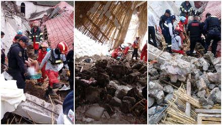 Abancay | Así fueron las labores de rescate tras el colapso de la pared de un hotel durante una boda [FOTOS]