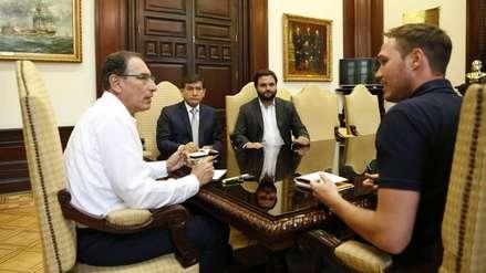 Martín Vizcarra se reunió con George Forsyth y acuerdan luchar contra la delincuencia en La Victoria