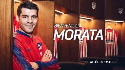 Atlético de Madrid oficializó la incorporación de Álvaro Morata