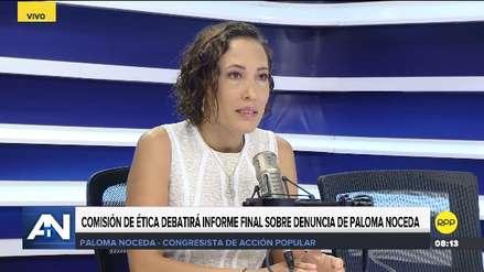 Noceda espera que informe sobre López Vilela se apruebe por unanimidad: