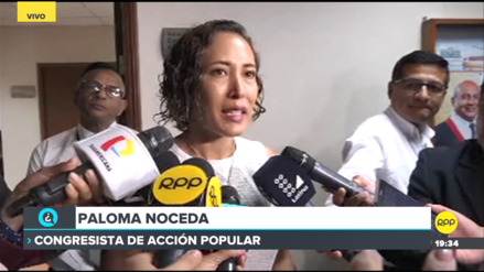 Noceda lamentó que informe contra López Vilela no fuera aprobado por unanimidad