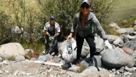 Arequipa | Ciudadanos venezolanos, así limpiaron la ribera del río Chili como agradecimiento a la ciudad