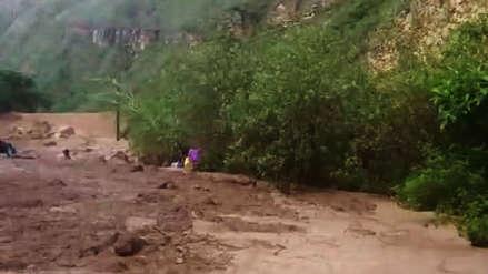 Huaico bloquea carretera entre Chachapoyas y Pedro Ruiz