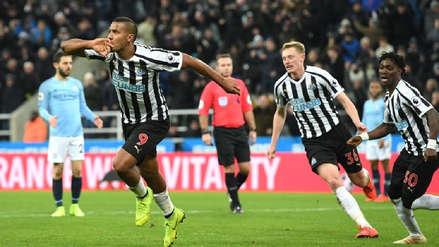 Manchester City perdió ante el Newcastle por un penal en minutos finales