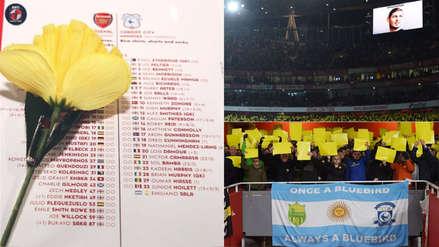 Emiliano Sala: Cardiff y Arsenal le rinden emotivo homenaje en el Emirates Stadium