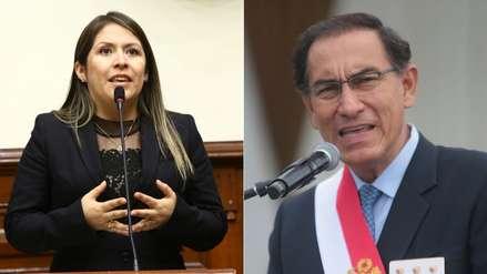 Yeni Vilcatoma presentó denuncia constitucional y penal contra Martín Vizcarra
