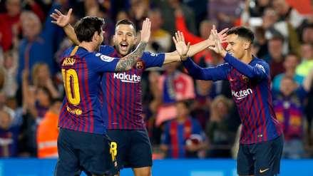 Lionel Messi y su gran habilitación para el gol de Sergi Roberto ante Sevilla
