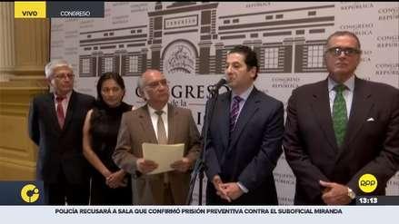 Cinco congresistas anunciaron la conformación de la bancada 'Acción Republicana'