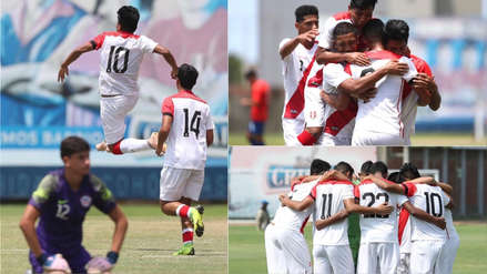 Selección Peruana Sub 17 goleó 4-1 a Chile en partido amistoso