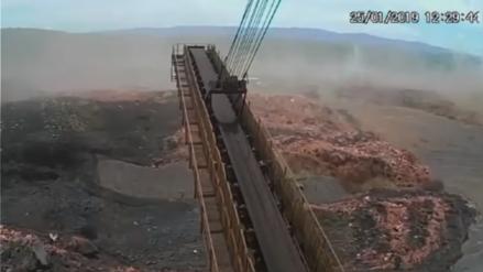 Video muestra colapso de represa y deslizamiento de residuos minerales en Brasil