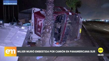Mujer murió arrollada por camión cuando intentaba cruzar la Panamericana Sur