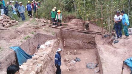 Descubren entierro prehispánico en Cusco cuando realizaban obras de agua potable [FOTOS]
