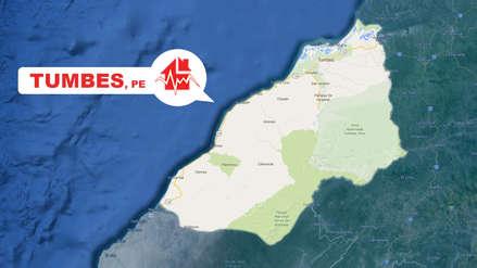 Un sismo de magnitud 4.7 sacudió esta noche en Tumbes