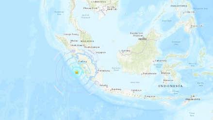 Un fuerte sismo de magnitud 6.1 sacudió la isla indonesia de Sumatra
