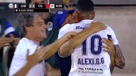 Alexi Gómez le dedicó este mensaje a Pedro Troglio tras su golazo con Gimnasia