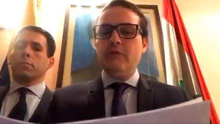 Embajador de Venezuela en Irak reconoció a Juan Guaidó como presidente
