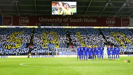 Emotivo homenaje a Emiliano Sala en el estadio del Cardiff City