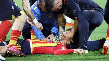 Suspenden partido en Italia por impactante choque de jugador