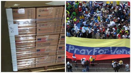 Estados Unidos inició el envío de ayuda humanitaria a Venezuela
