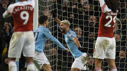 Manchester City: mira el triplete de Sergio Agüero en el triunfo ante Arsenal