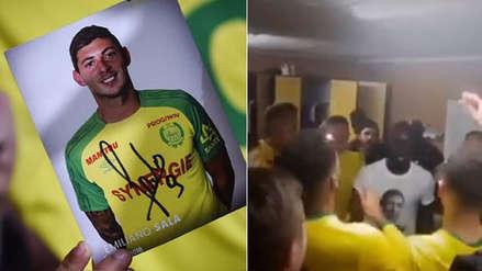 Emiliano Sala: el emotivo homenaje de la Sub 19 del Nantes al futbolista argentino