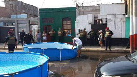 Municipalidad del Callao decomisó piscinas portátiles que obstaculizaban la vía pública