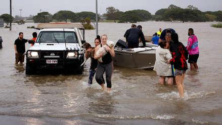 Inundaciones sin precedentes en Australia llevaron cocodrilos a las calles