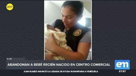 Un bebé recién nacido fue abandonado en una galería comercial en San Juan de Miraflores